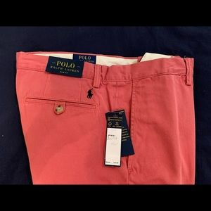 Polo Slim Fit Red Chinos